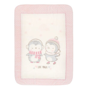 Κουβέρτα Luxury Super Soft 80x110 εκατοστά Love Pingus Pink Kikkaboo
